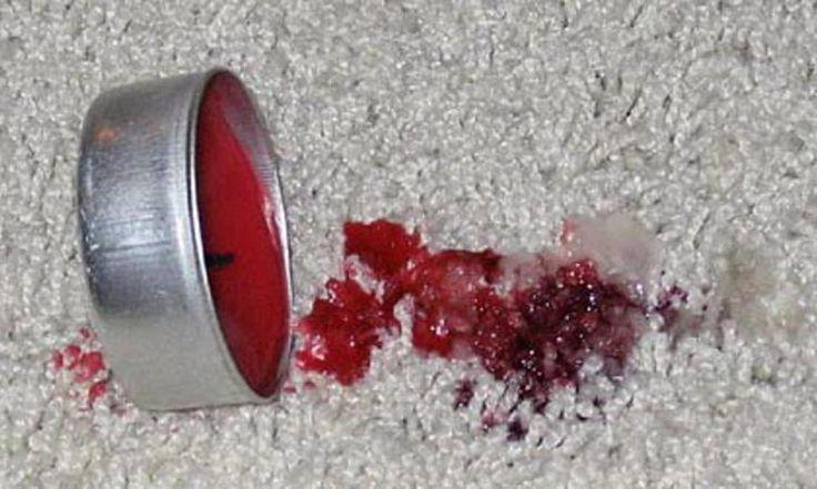 Vous avez échappé de la cire chaude sur du tissu ou le tapis? Oubliez la glace! Il y a bien mieux!