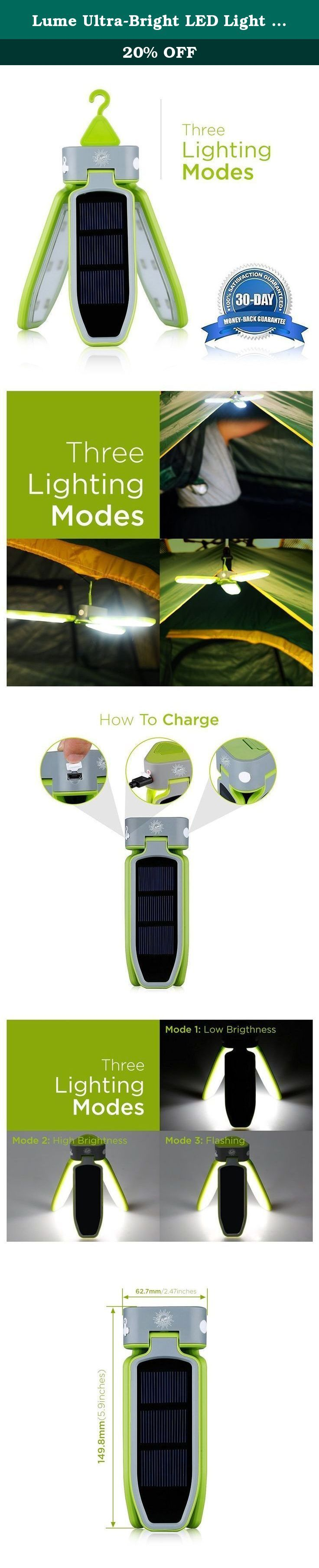 Lume Ultra-Bright LED Light Collapsible Rechargeable Lantern with 18 LED Lights. USB Charging and Solar Panel Chargeable. For Outdoor Camping, Emergency Light, Fishing Lamp. At this time and age, the advances in science and technology has made it possible to harness power from the sun. Solar power is energy that is converted to electrical or thermal. People have become more environmentally conscious and solar power is being utilized at industrial buildings and at home. There are new solar...