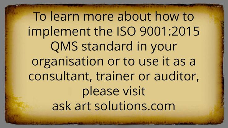 ISO 9001:2015 Consulting - Frequently Asked Questions Part 6