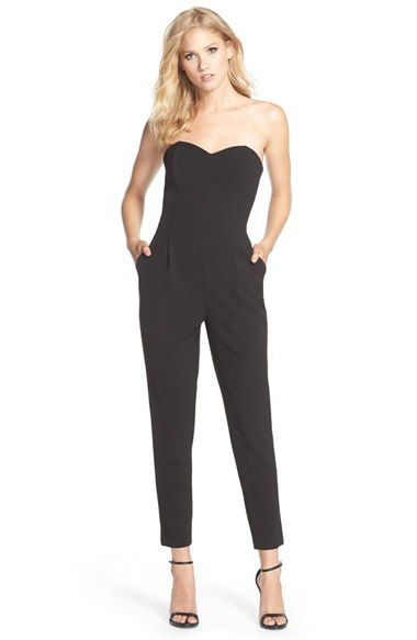 Adelyn Rae Strapless Woven Jumpsuit available at #Nordstrom