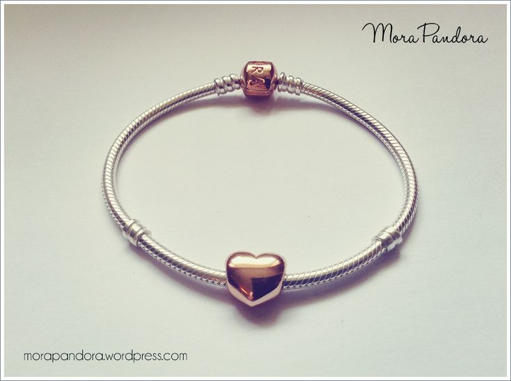 Pandora Rose bracelet and puffy heart charm