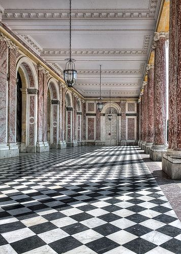 An ancient, empty ballroom - the Grand Trianon, Versailles, Paris
