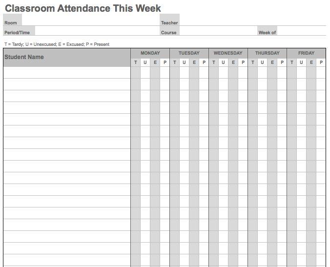 Attendance List Attendance Sheet Template Excel Best 25+ - attendance sign in sheet