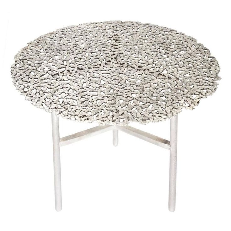 Jean White Bronze Lost Wax Cast Butterfly Indoor or Outdoor Side Table   From a unique collection of antique and modern side tables at https://www.1stdibs.com/furniture/tables/side-tables/