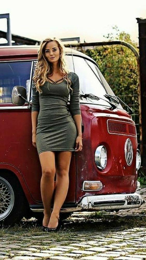 Vw Girls  Bus Girl, Volkswagen, Vw Cars-4426