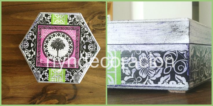 Decoupage decorated box