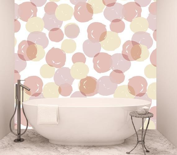 Wall Pattern Polka Dot Wallpaper Peel And Stick Geometric Etsy Polka Dots Wallpaper Dots Wallpaper Wall Patterns