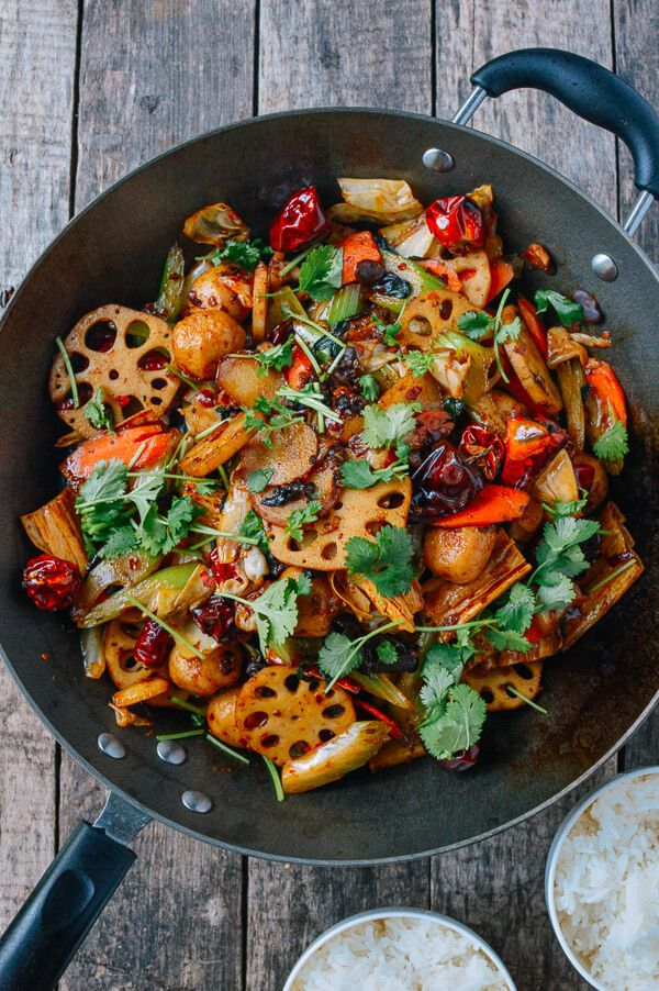 This ma la xiang guo recipe (a spicy mix of vegetables, meats, and Sichuan seasonings) is a recreation of a dish we enjoyed often when we lived in Beijing.