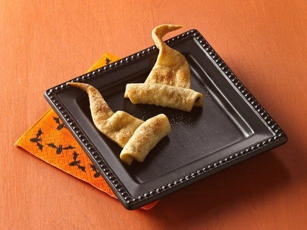 Make simple wizard hats out of crescent dough. | 33 Cheap And Easy Ways To Throw An Epic Harry Potter Halloween Party