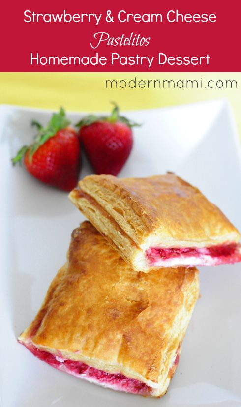 Strawberries and Cream Cheese Pastelitos (Puff Pastry Dessert) Recipe