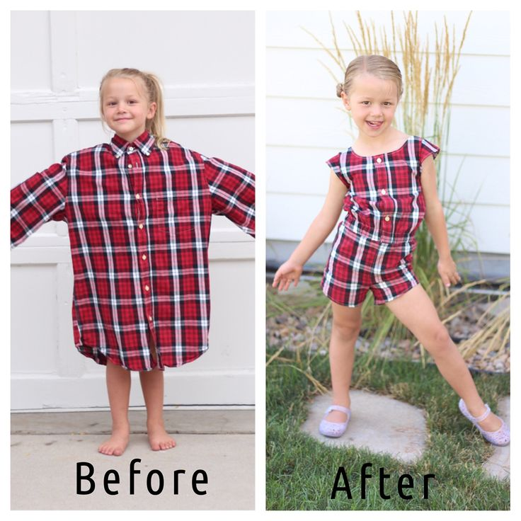 This Woman Transforms Her Husband's Old Shirts into Adorable Outfits for Daughters