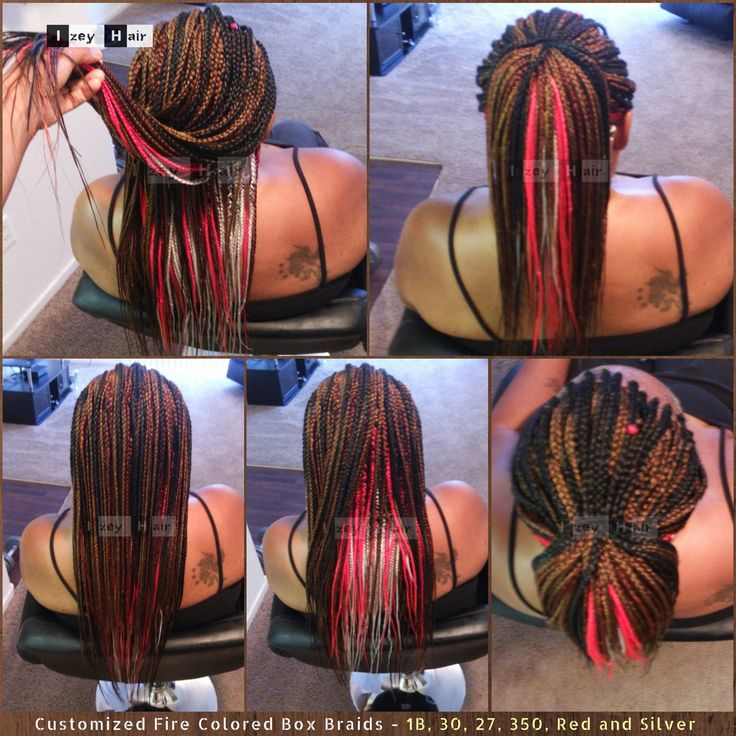 Customized Fire Colored (Multicolored) Box Braids - 1B, 30, 27, 350, Red and Silver . izeyhair.com (702) 907-4939 . . . . . #FireBraids #FireHair #FireColoredBraids #HairLove #LongBraids #BraidingHair #Hair #Braids #Braiding #HairBraiding #Boxbraids #individualbraids #blackhair #protectivestyle #HairStylist #HairBraider #Braider #ProtectiveStyles #HairGoals #SilverBraids #RedBraids #BurgundyBraids #BlondBraids #ColoredHair #MulticoloredHair #Xpressions #Extensions #HairExtensions #IzeyHair