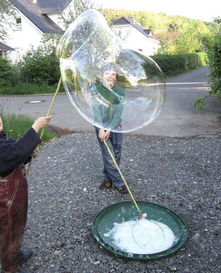 Needle spell: Giant bubbles, now with recipe