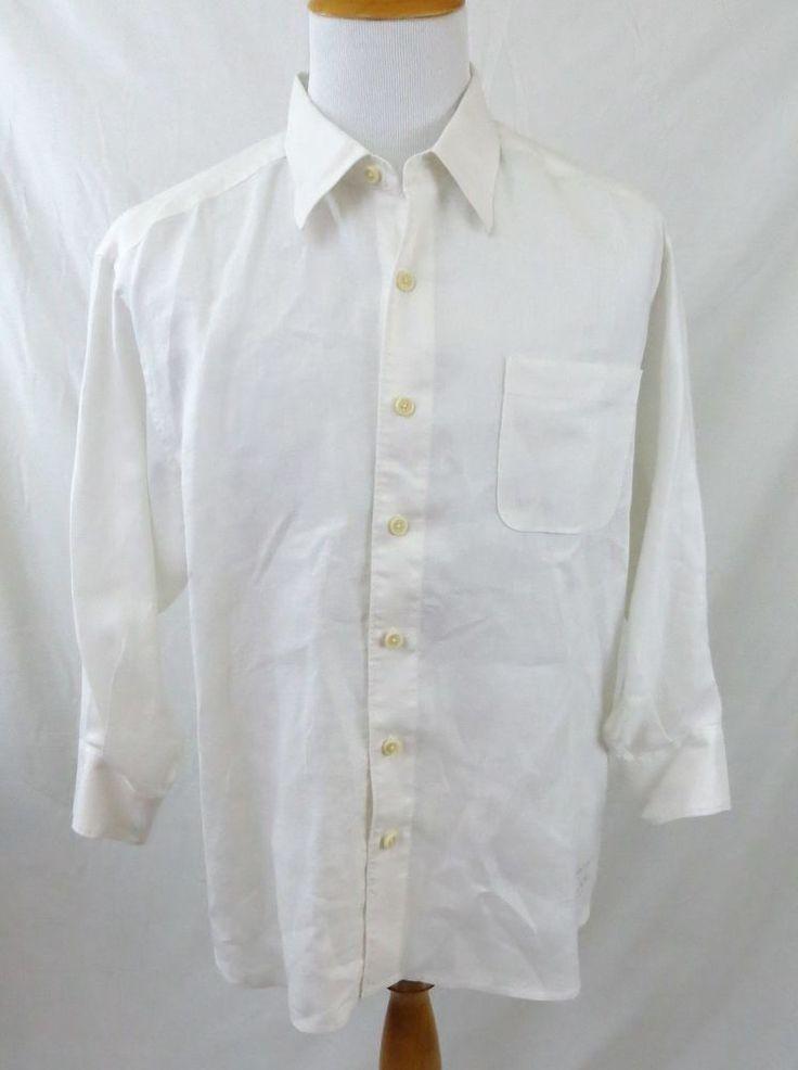 tommy bahama mens hawaiian shirt size large l white 100