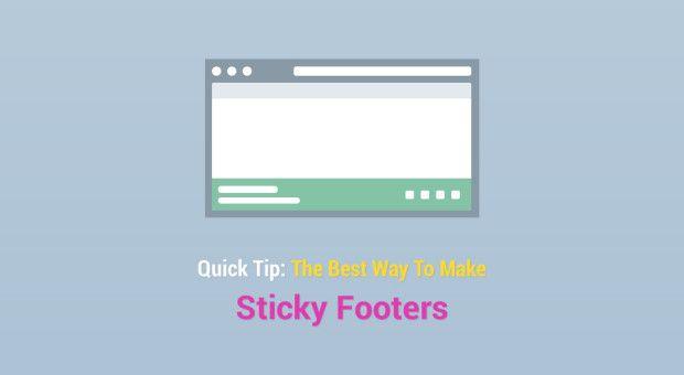 The best way to make sticky footers (Tutorialzine)