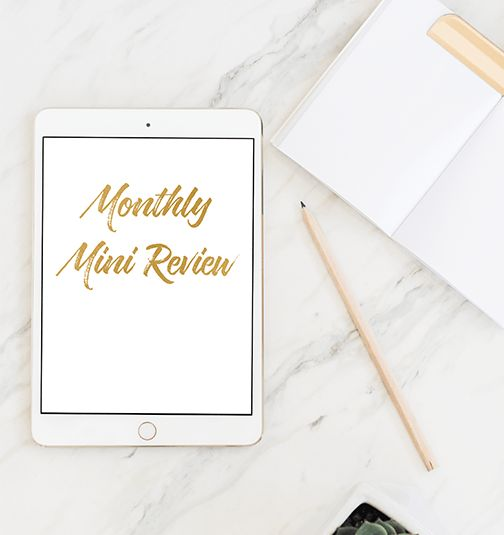 Monthly Mini Review – product page