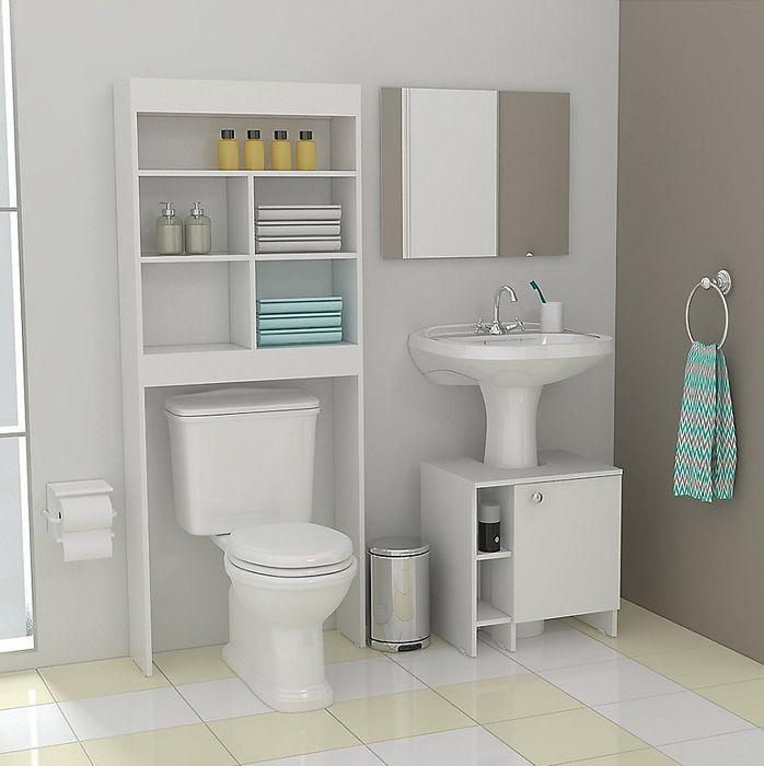 Optimiza el espacio de tu baño ocupando estantentes con varios compartimentos #HomecenterBaño #Homecenter #Sodimac