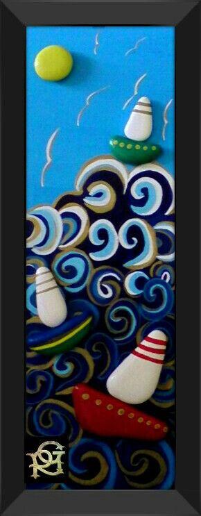 Mareggiata -Painted Stones di Rosaria Gagliardi