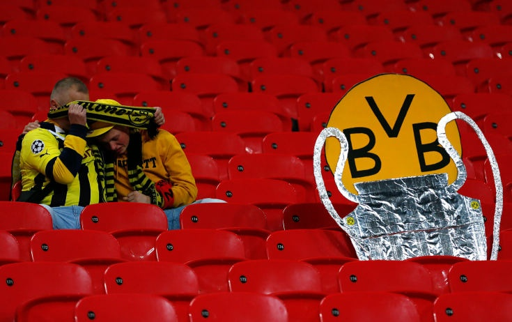 "and fans is big! However, the BVB club, 8 years ago basically bankrupt now after 2 years German Champions (this season ""only"" second) Champions League Finale is superb. Mainly look WHO the beat to make the final dream. They will be stronger in the future....."