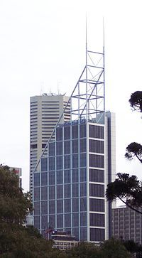 "Architect Norman Foster. ""Deutsche Bank Place"", Sydney."