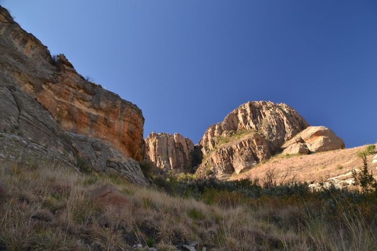 Almost at the top of Platberg Mountain. A great hike/climb at Harrismith, South Africa.