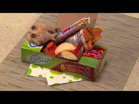 """The Chipper"" Bento Box Here's a creative lunchbox idea from The Swedish Chef himself! Don't worry; your kids will love this take on ""fish"" and chips! #gogurt #muppetsmostwanted"