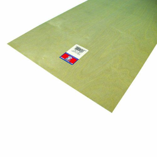 Midwest Products 5243 Aircraft Grade Birch Plywood Sheet, 12 x 24 inches