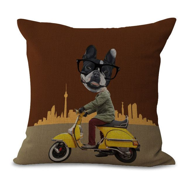 Fashion Cartoon Comic Embrace Pillow Case Hand Number Printing Cotton Embrace Pillow Case Office Chair Cushion