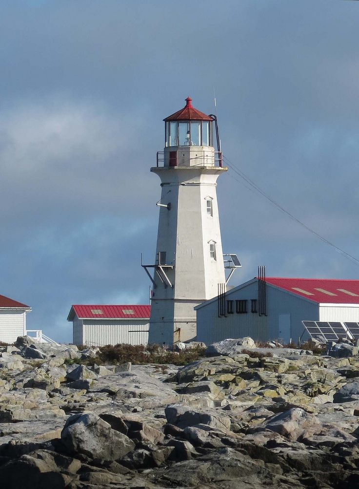 Machias Seal Island Lighthouse on a disputed island  administered by Canada but located in the state of Maine, USA.  The Canadian Coast Guard continued to staff a lighthouse on the island.  It is a barren island and devoid of trees.  Because it is located between the Gulf of Maine and the Bay of Fundy it is fog-bound for many days of theyear.  It is a sanctuary for seabirds .