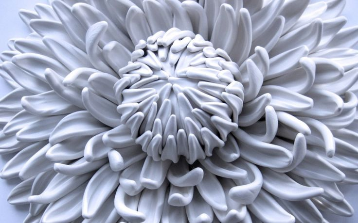 Organic Polymer Clay Sculpting by Dilly Pad, aka Angela Schwer. Flower