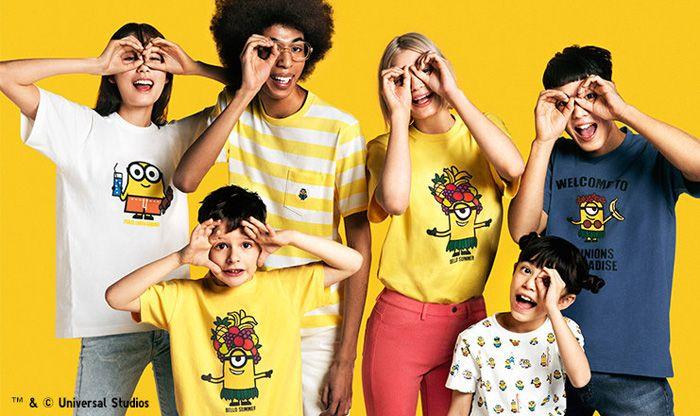 Minions x Uniqlo UT Bello Summer Kids Collection - minilicious.com