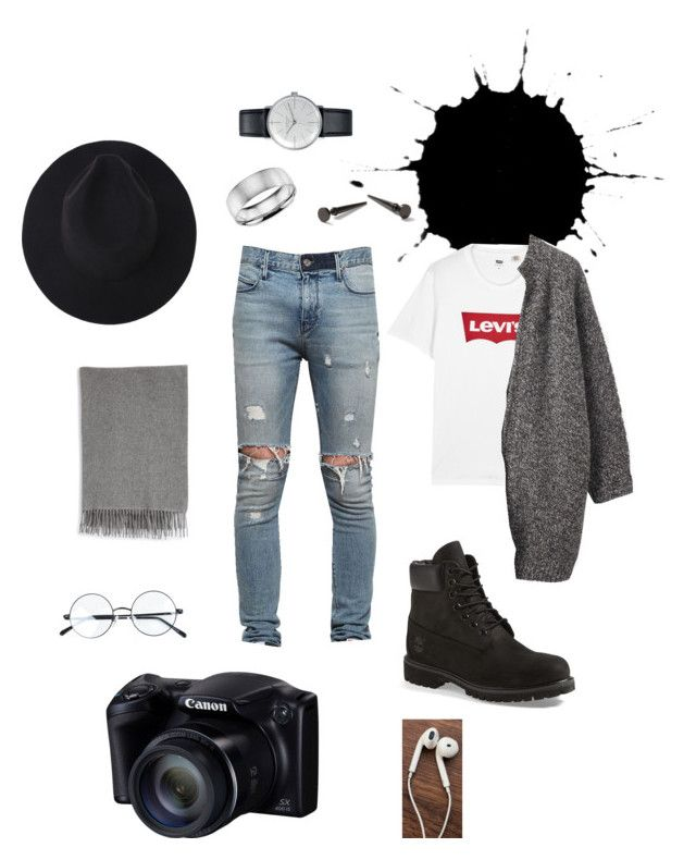"""""""Set #32"""" by jeongmina on Polyvore featuring Topman, RtA, Timberland, Blue Nile, Levi's, Toast, Acne Studios, Junghans, men's fashion and menswear"""