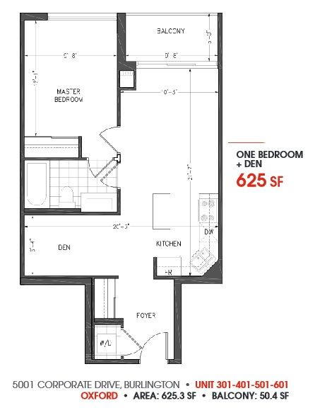 1BA + DEN condo plan at Appleby Gardens Condominiums. Register today to get special offers. Visit: http://www.myprgenie.com/view-publication/register-today-for-special-offers-in-new-condos-in-burlington-on
