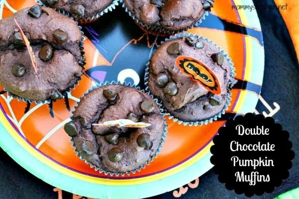 Double Chocolate Pumpkin Muffins