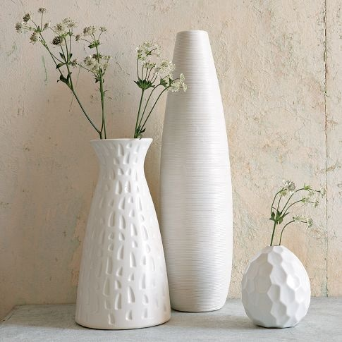 Textured Pure Vases