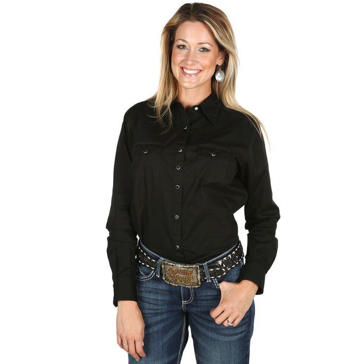 Women's Wrangler Black Ultimate Riding Snap Shirt