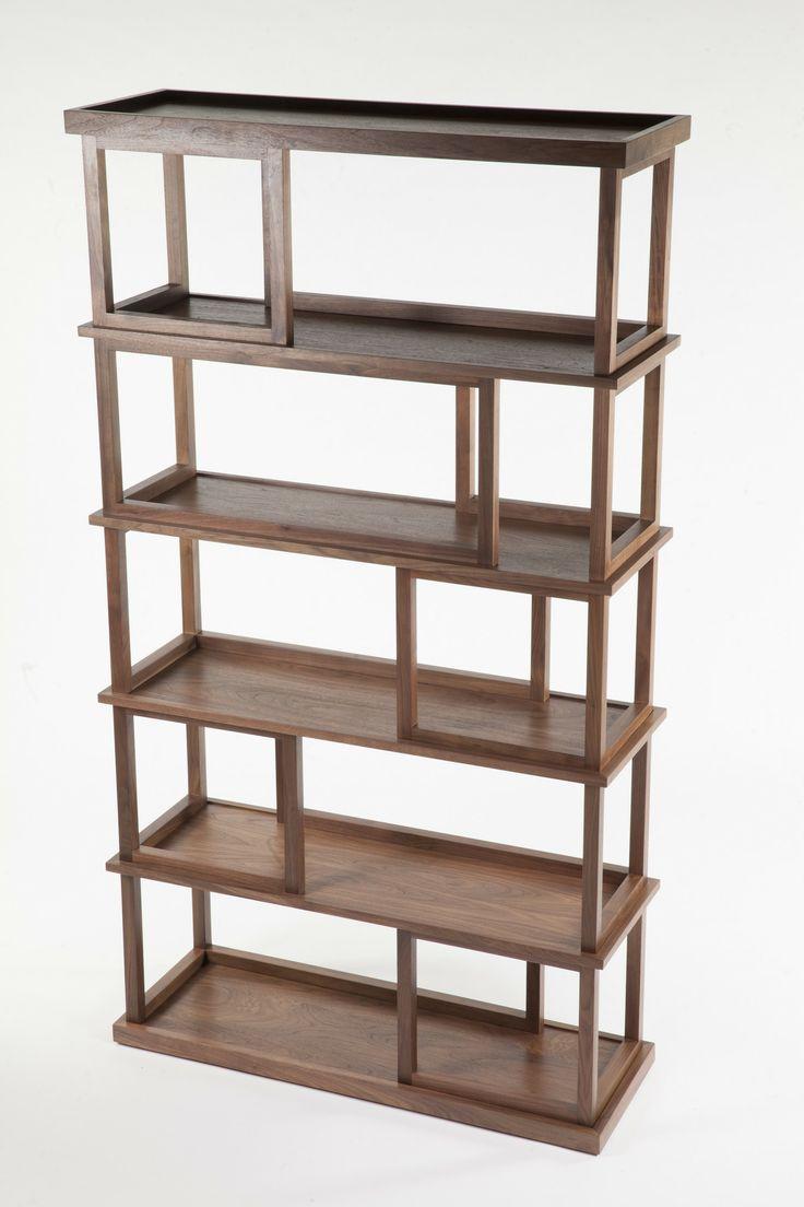 Chateau bookcase walnut leaning bookcase white modern bookcase walnut - Walnut Multifunctional Bookshelf