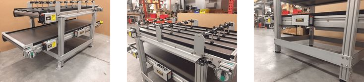 This Heavy Duty Over Under Conveyor Interfaces With A Robotic System