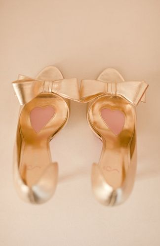 Everyone must have a pair of gold shoes just once in their lives.