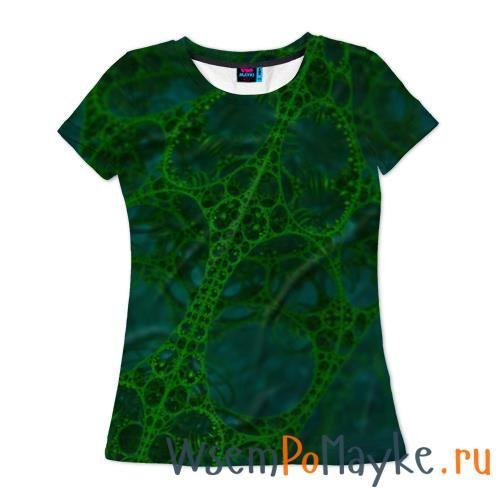 Женская футболка 3D с полной запечаткой Зеленый узор - интернет магазин WsemPoMayke.Ru http://wsempomayke.ru/product/womanshortfull/1003303  Доставка по России курьером или почтой, оплата при получении. Женская футболка 3D с полной запечаткой Зеленый узор купить с доставкой, оплата при получении. Посмотреть размеры и цену > http://wsempomayke.ru/product/womanshortfull/1003303