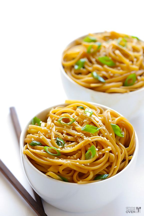 Ditch the packet noodles and whip up your own. This ginger-soy noodle recipe takes mere minutes to make!  (Get the recipe)   - Cosmopolitan.co.uk