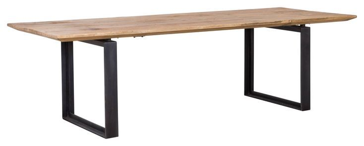 Vermont 260cm Reclaimed Pine Dining Table Natural Constructed