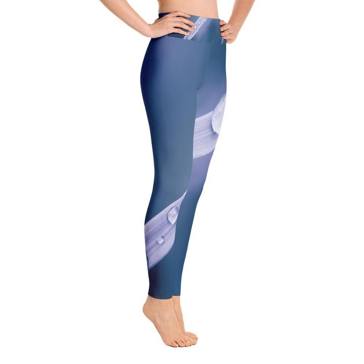 Blue Slide Yoga Leggings