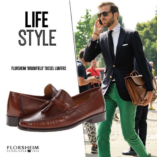 Un estilo súper original y elegante con los mocasines de florsheim