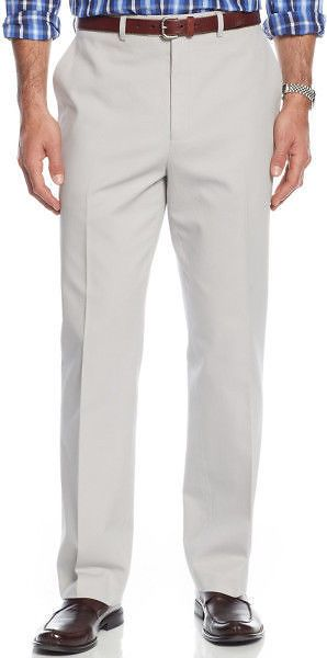 Michael Kors Stone Flat Front Finished 100% Cotton New Men's Pant's