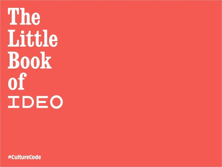 The little book of ideo values by tim brown via for Ideo san francisco