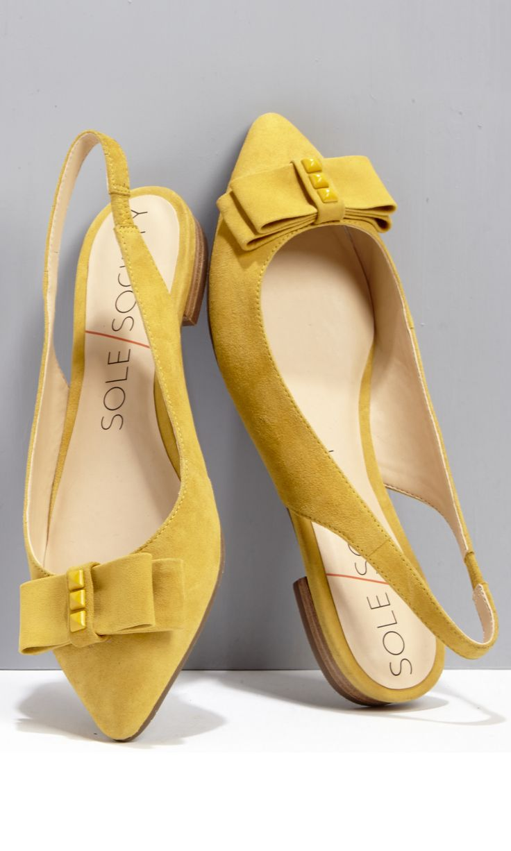 Cheery mustard slingback flats -- a must-have for spring!
