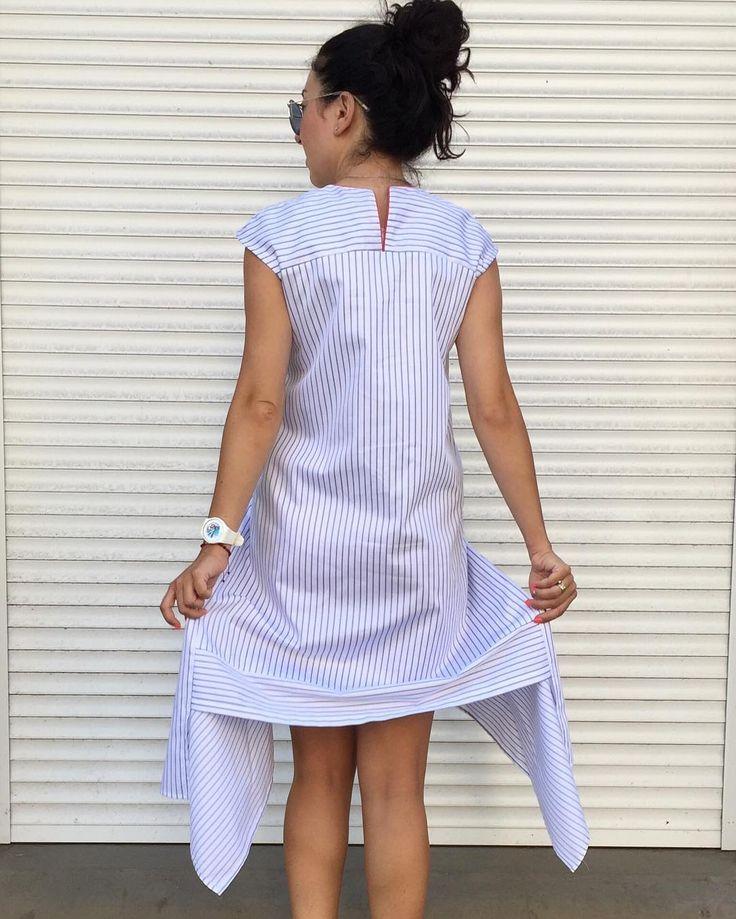 #new   #shirtdress   #backview  Полоска, ассиметрия, интересные детали, высокое качество ткани и пошива - это просто идеальное летнее платье😍😍😍 В наличии размер S, М