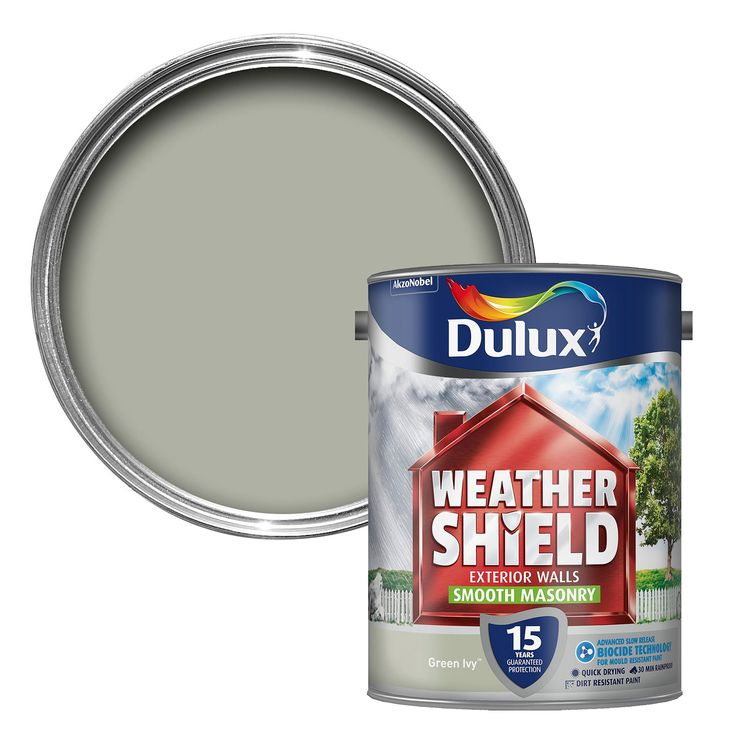 Dulux Weathershield Green Ivy Matt Masonry Paint 5L | Departments | DIY at B&Q