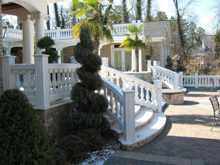 17 best images about balustrades on pinterest vinyls columns and curved staircase for Exterior polyurethane for decks